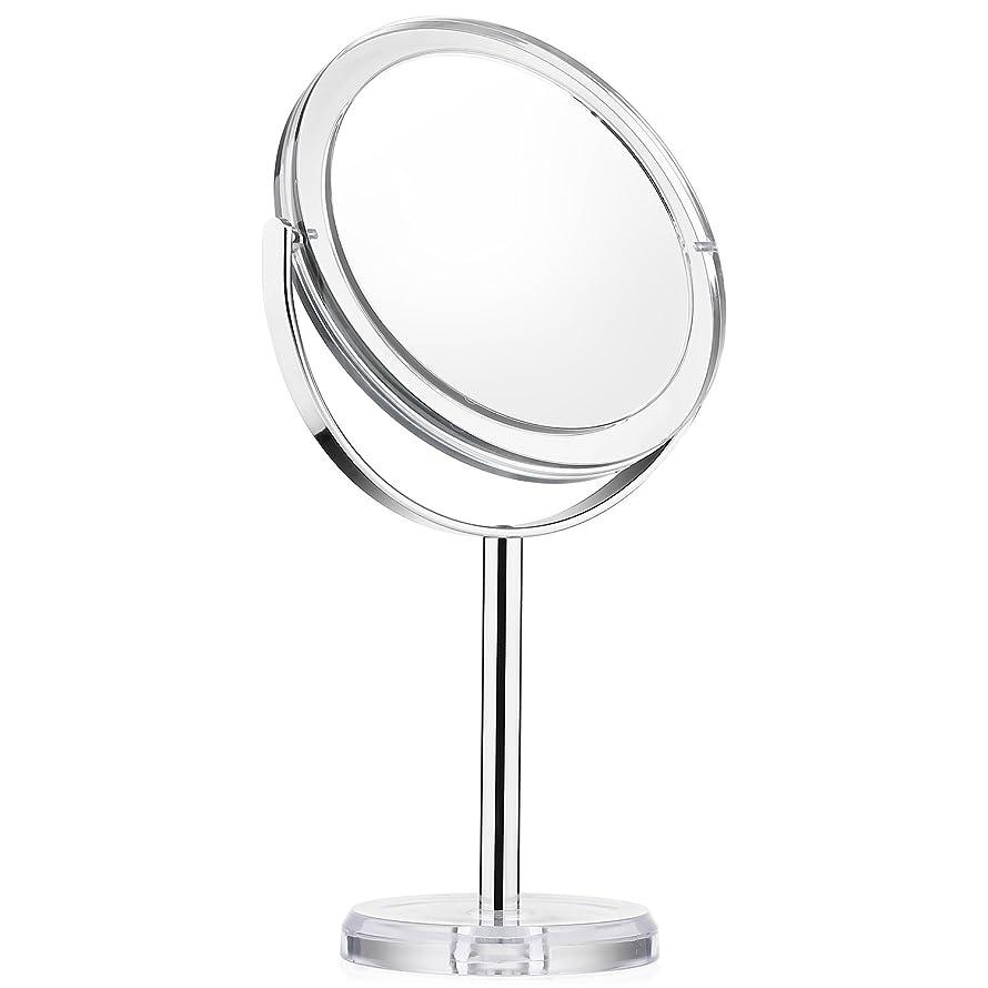整然としたカカドゥ若い化粧ミラー Beautifive 鏡 卓上 化粧鏡 メイクミラー 卓上ミラー スタンドミラー卓上 等倍卓上両面鏡 卓上鏡 7倍拡大スタンドミラー 360°回転可 光学レズン高解像度