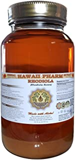 Rhodiola Liquid Extract, Organic Rhodiola (Rhodiola Rosea) Tincture, Herbal Supplement, Hawaii Pharm, Made in USA, 32 fl.oz