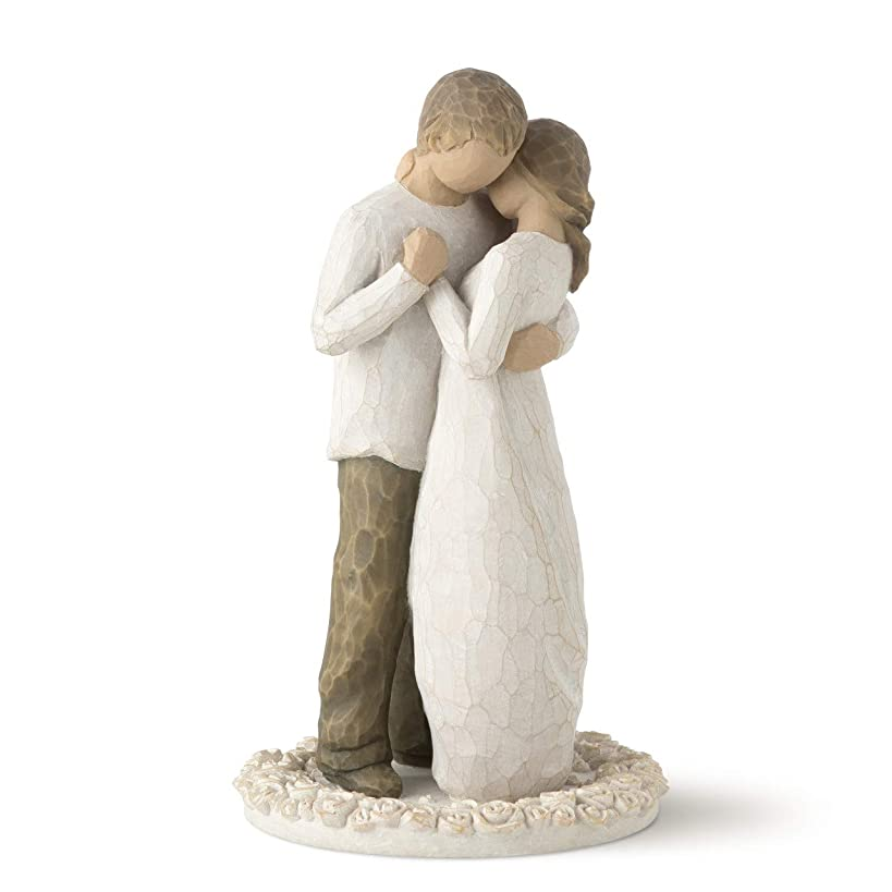 Willow Tree Promise, sculpted hand-painted cake topper