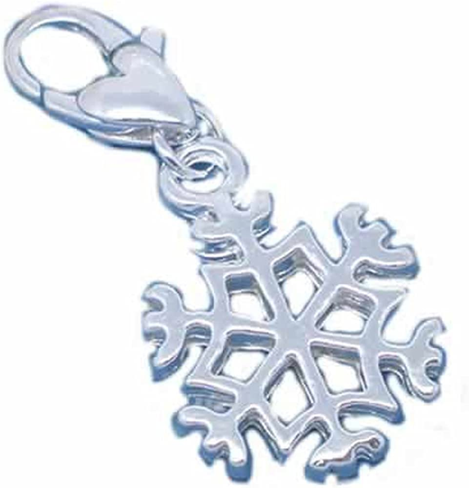 Over item handling ☆ Clip on Snowflake Denver Mall Charm for Lobster European Clasp w Jewelry