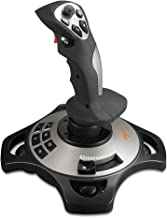 TNP USB Flightstick PC Joystick Controller Simulator Gamepad - Wired Gaming Control for Flight Stick Simulation Games, Advanced Throttle 4 Axis 8 way HAT Switch, Realistic Vibration Feedback