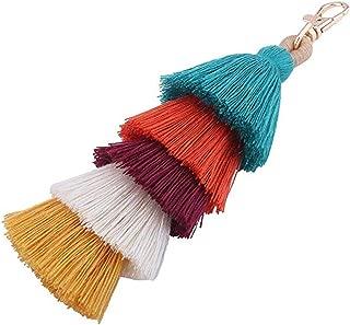 Colorful Boho Pom Pom Tassel Bag Charm Key Chain