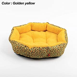 BiBaBoMax Colorful Cat Dog Kennel Warm Dog Bed Cushion Colorful Leopard Print Shape Sponge Pet House
