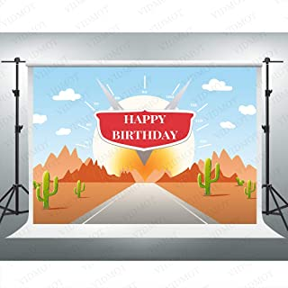 Race Car Route 66 Backdrop Cars Story Birthday Party Background 7x5ft Photo Booth Banner for Cake Table Supplies BJDSVV188