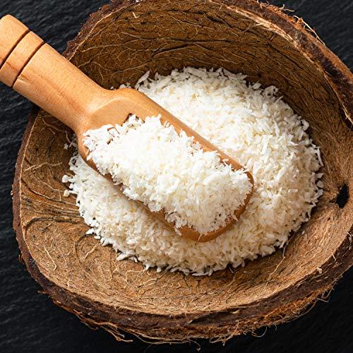 12,99€ (12,99€ pro 1kg) 1000g Bio Kokosraspeln ungesüßt & ungeröstet / ideal fürs Müsli | 1 kg | in kompostierbarer Bio-Verpackung - Kokos-Raspeln fein Low-Carb Ernährung & vegan Kokosnuss DE-ÖKO-070