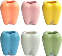 つまようじスタンドデンタ君 6個入り 歯ブラシ立て 歯間ブラシ入れ 退職ギフト 6色各1個(6個入り)