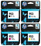 Hewlett Packard HP Original 953 cartuccia 4er Set nero, cyan, magenta, giallo