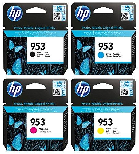 Hewlett Packard HP Original 953 cartuchos de tinta 4er Set negro, cyan, magenta, amarillo