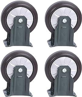 4Pcs Medium Rubber High Elasticity Universal Wheel,Trolley Flatbed Truck Industry Castor Wheels,Replace Accessories Brake ...