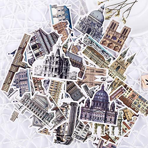 Handboek Stickers Handboek Dagboek Fotoalbum Telefoon Plakken Plakken Rond De Wereld Reizen Architectuur Europa Kasteel