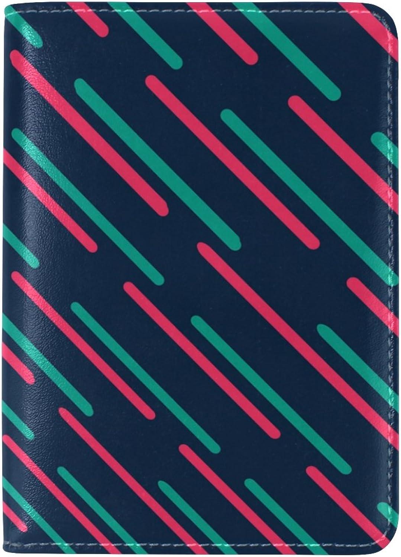Coosun Bunte dünne Linien Twill Leder Leder Leder Passhülle Cover für Travel One Pocket B077TX3SXL  Geschäft 64f6d5