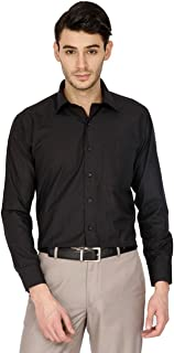 Super weston Men's casual shirt (S, Black)