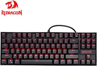 Redragon K552 メカニカル式ゲーミングキーボード 青軸防水機能付き 単色LEDバックライトモード USB接続有線87キー ゲーマー向け英語配列キーボード