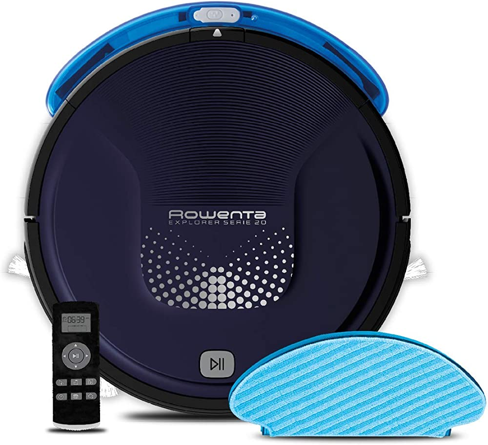 Rowenta rr6871 explorer serie 20, robot aspirapolvere lavapavimenti, 3 modalità di pulizia RR6871WH