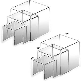 Adorox 2 Sets 5'', 6'', 7'' Acrylic Display Riser