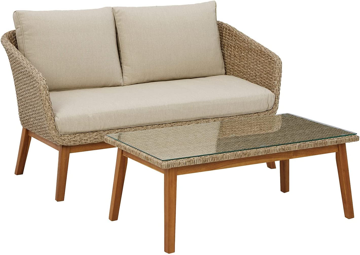 Signature Design by Seattle Mall Ashley Crystal Loveseat Cave with Max 75% OFF Table Set