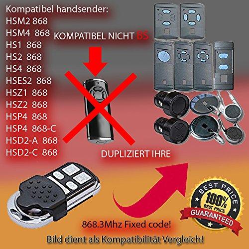 Schartec Handsender 868 MHz für Hörmann und Marantec Garagentorantriebe. Ersetzt HSM 4 HSE 2 HS 4 HSP HSD Digital 302 - 304 - 313 - 321 Funk Fernbedienung 868,3 MHz