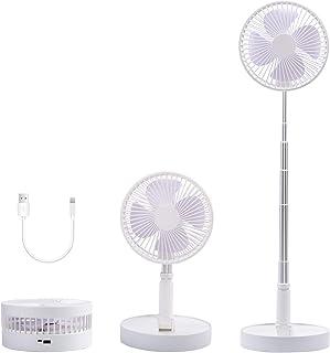 Vykor Portable Tower Fold Fan , USB Cordless Office Cooling Fan, Table Fan 7.5inch Diameter, Fast Charge Desk Fan, Cooling Portable Fan For Home Office Outdoor
