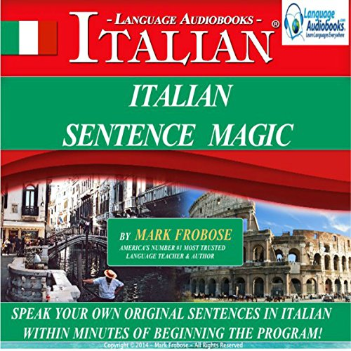Italian Sentence Magic audiobook cover art