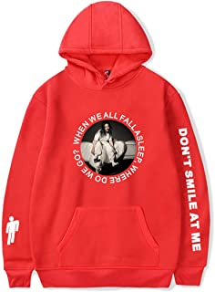 Fashion Women Novelty Billie Eilish Top Hoodie Pullover Sweatshirts for Fan Support Hoodied