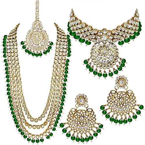 Vihan Latest Designer Our shop OFFers the best service Kundan Necklace Gold Classic Earring Indian Plated