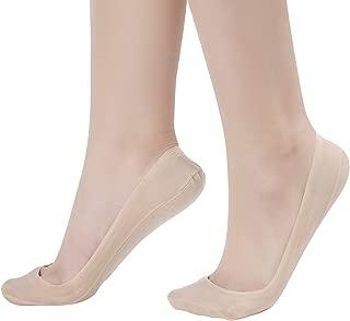 Flammi Women's No Show Liner Socks for Flats Nonslip Low Cut Nylon Cotton