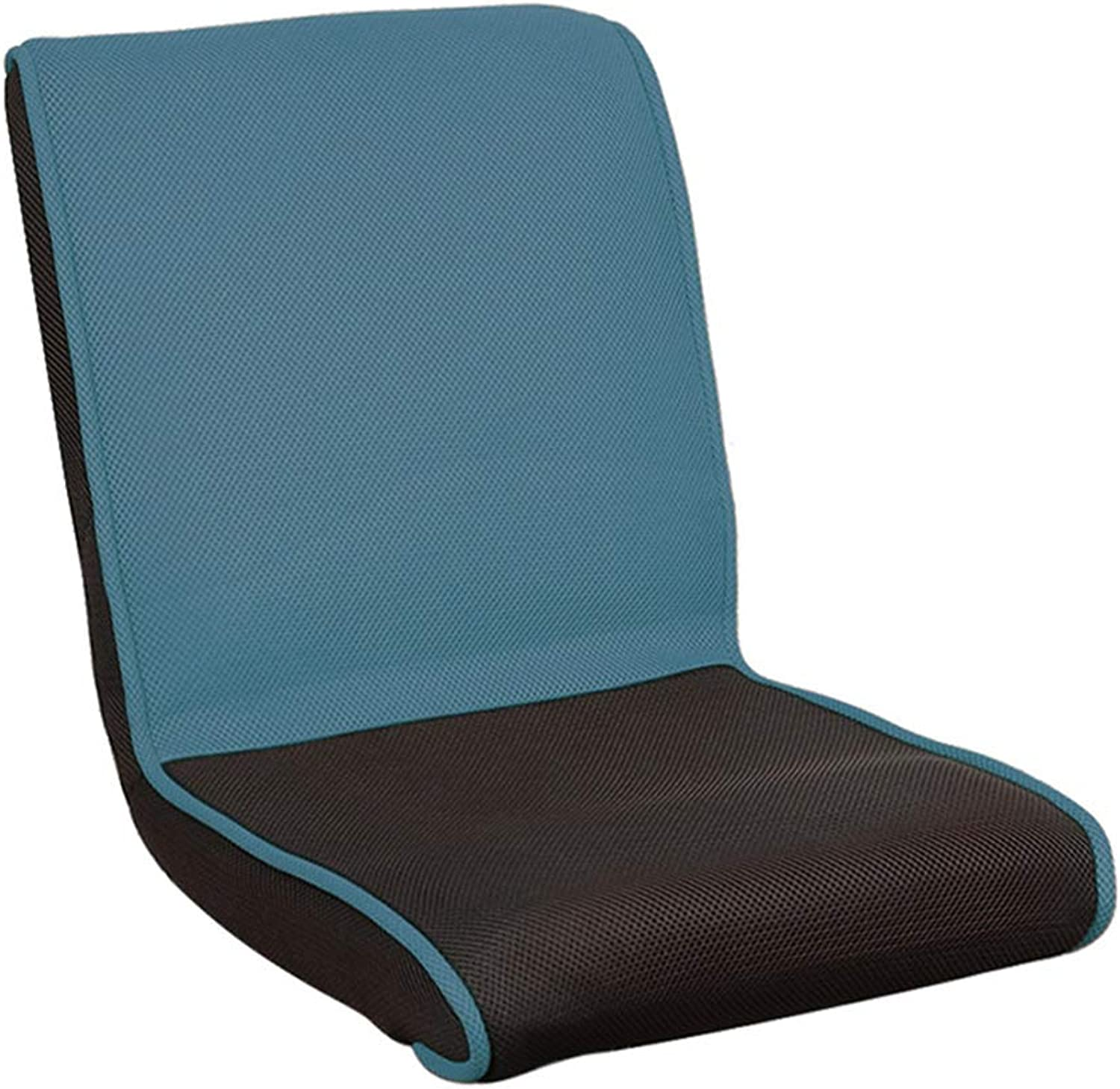 GY Floor Chair, Fold Lazy Sofa, Portable Single Back Support, Home Reading, Meditation, Game Multi-Function Leisure Cushion Seat (4 colors) (color   bluee)