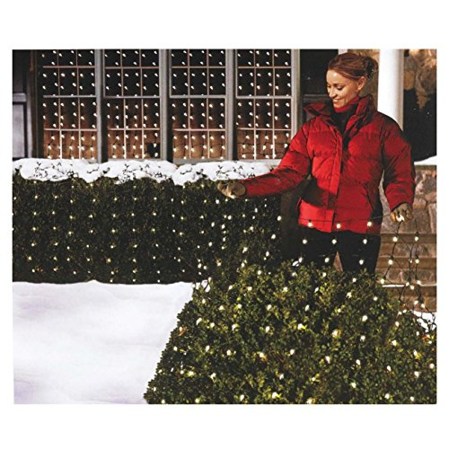 Holiday Essentials 150 Net Lights - Clear Bulbs with Green Wire - Indoor / Outdoor Use - UL Listed