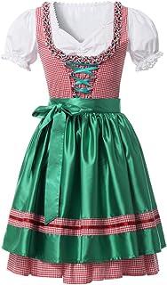 GRACEART Disfraz de Alemana Oktoberfest para Juego 3 Piezas Mujer Dirndl Vestido (XL, A)