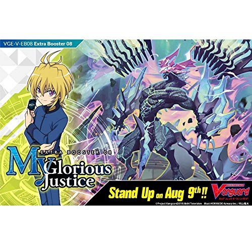 Cardfight Vanguard VGE-V-EB08-EN V-My Glorious Justice-Extra Booster Display Box of 12 Packets, Multi
