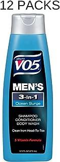 Alberto Vo5 Mens 3-in-1 Shampoo, Conditioner & Body Wash, Ocean Surge 12.5 Fl Oz (12 packs)