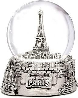 Mini Silver Paris Eiffel Tower Snow Globe, (2.5 Inches Tall) Paris Snow Globes Collection