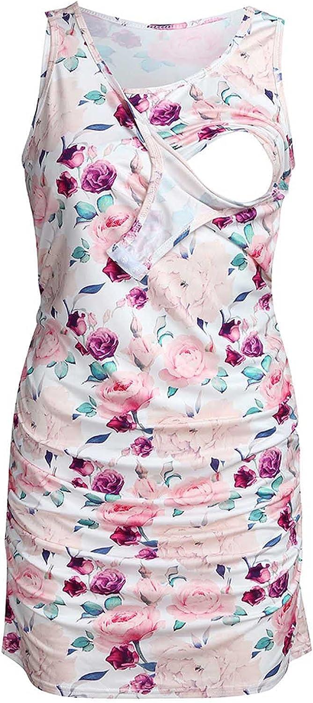Lucktop Women's Sleeveless Nursing Dressprin Albuquerque Mall Maternity Nightgown [Alternative dealer]