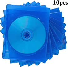 COOFIT Bluray Case Double 10 Pieces CD/DVD Jewel Cases Empty Standard Blue Replacement Boxes/Cases for Blu-Ray Disc