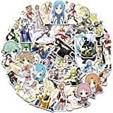 XXCKA 50 Anime Sword Art Online Graffiti Laptop Guitarra Skateboard Decoración extraíble sin Dejar Pegamento Pegatinas Impermeables