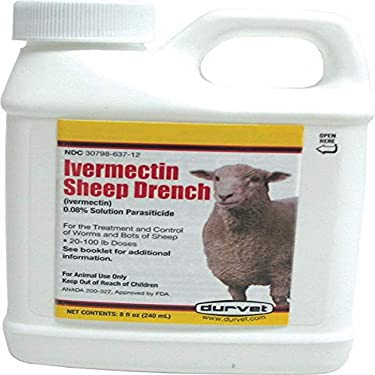Durvet 001-1067 Ivermectin Sheep Drench 8 oz.