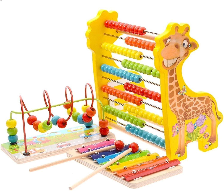 Unbekannt Xiaomei Intellektuelles Spielzeug Holz-Kinderspielzeug Wulstige Perlen Early Education Babyspielzeug die Entwicklung von Intellectual 1-3 Jahre Junge und Mdchen Geschenke (Farbe   4)