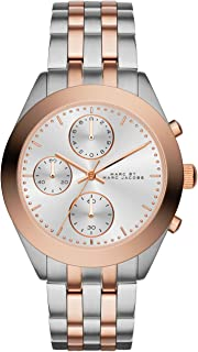 Marc By Marc Jacobs Mbm3369 Ladies Peeker Chrono Silver and Rose Gold Plated Watch, Analog Display, Quartz Movement