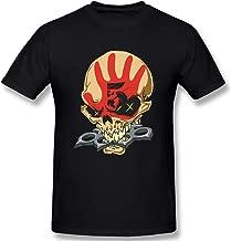 asdfgsagas Men's Five Finger Death Punch Cotton Short Sleeve T-Shirts Black