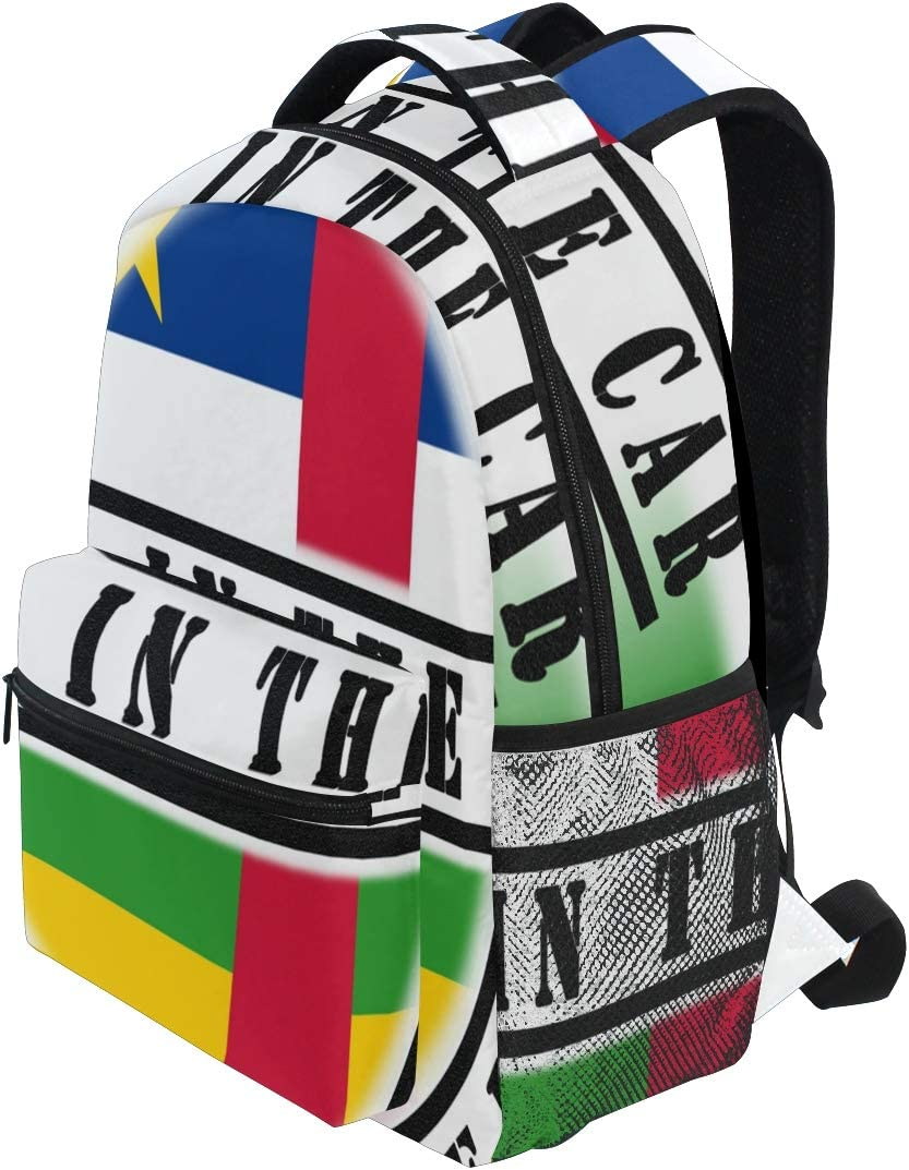 School Backpack Vector Flag Central African Republic Pattern Cute Toddler Backpack Small Backpack