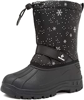 Toddler Snow Boots for Boy Girl Winter Outdoor Waterproof with Fur Lined(Toddler/Little Kids)