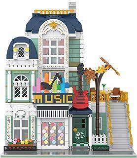 Goshfun 3005+Pcs Large Street View Music Store Bricks Model Set, MOC DIY Educational Building Block Assembly Small Particl...