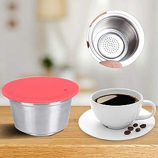 Capsule de café en acier inoxydable réutilisable tasse de capsule de café rechargeable adaptée à la cafetière Dolce Gusto(...