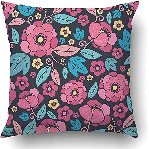 Cushion Cover Roze Aziatische nacht kimono Blossom zwart China abstract Azië mooie Chinese cultuur bloemen kussensloop bank polyester ziekenhuis vierkant hostel verborgen