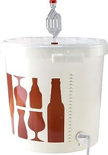 Seau de Fermentation - Brassage bière Maison (Seau de Fermentation 30L - gradué Saveur-Bière avec Robinet et barboteur)