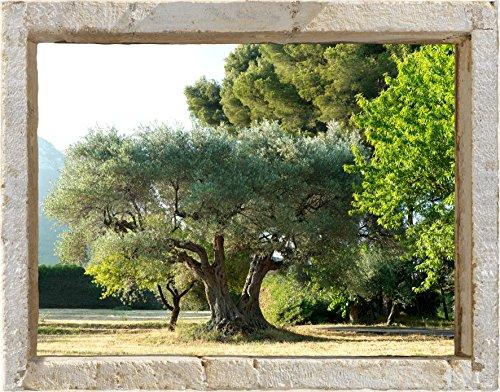 Décoration adhésive 800402 Trompe l'Œil Fenêtre, Polyester, Multicolore, 75 x 0,1 x 60 cm