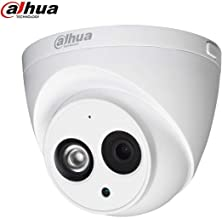 Dahua 4MP Outdoor Poe IP Camera IPC-HDW4433C-A 2.8mm, Dome CCTV Security Camera with Audio, Built-in Mic, IR 164ft Night Vision, Smart H.265+ WDR, IVS, ONVIF, IP67, International Version