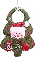 YTXTT Ornamento de Natal, tecido não tecido, Papai Noel, alce, boneco de neve, design de urso, decoração de pendurar para ...