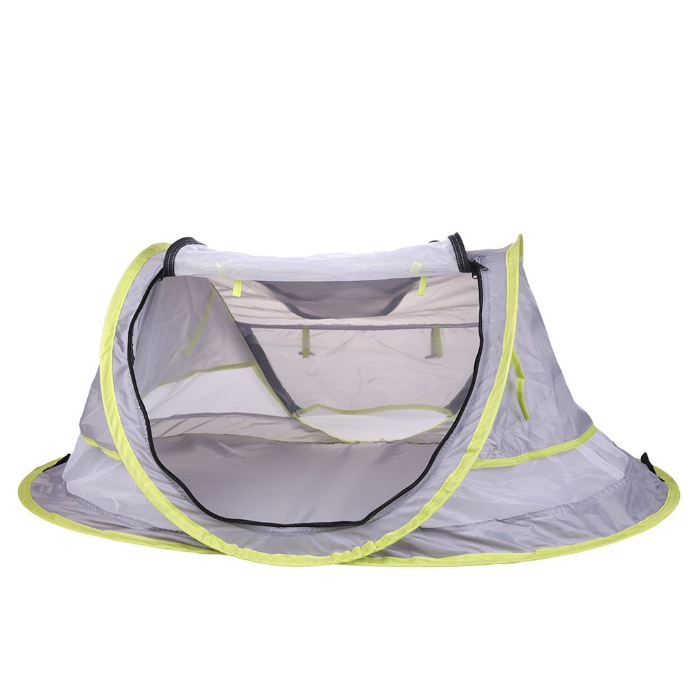 Baby Travel Bed, Portable Baby Beach Tent UPF 50+ Sun shelter, pop up Mosquito net and 2 Pegs,Super Lightweight