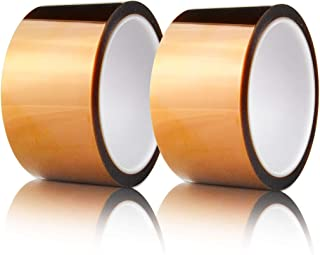 Hxtape High Temperature Kapton Tape,Polyimide Film Tape to Masking,3D Printing,Electric Task,Soldering,2 inch (50mm),36yds,2 Rolls